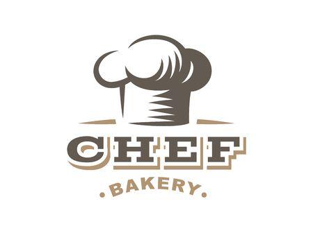 Chef - vector illustration. Bakery emblem design on white background