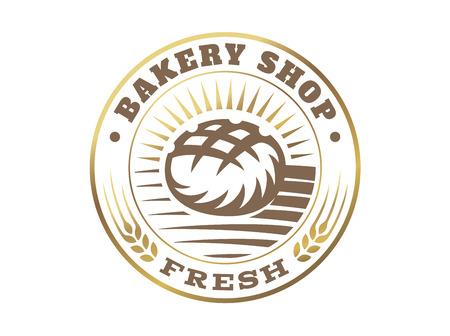 Bread  - vector illustration. Bakery emblem design on white background 写真素材