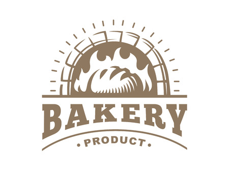 Bread - vector illustration. Bakery emblem design on white background