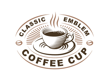 Coffee cup logo - vector illustration, emblem design on white background 版權商用圖片 - 72445704