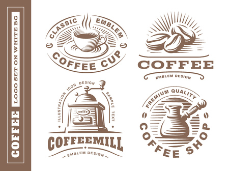 Coffee logo - vector illustration, emblem set design on white background Stock Vector - 72363255
