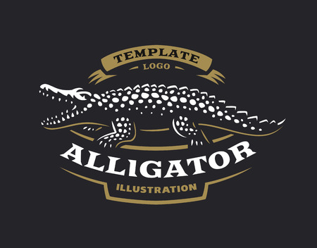 Alligator emblem design Иллюстрация