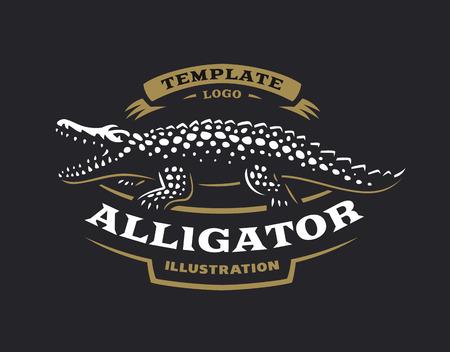 Alligator emblem design Illustration