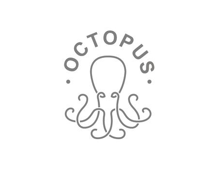 Octopus in embleemontwerp