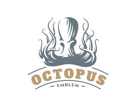 Octopus in emblem design