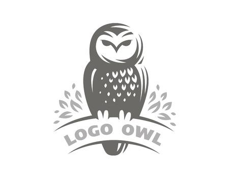 Owl in emblem design