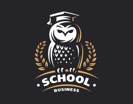 Owl education in emblem design
