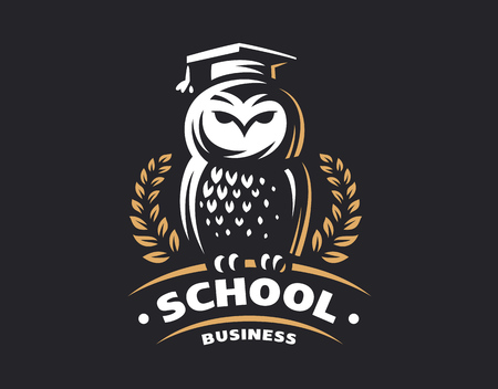 Owl education in emblem design