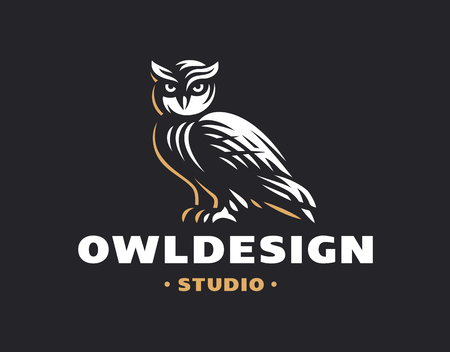 Owl in emblem design
