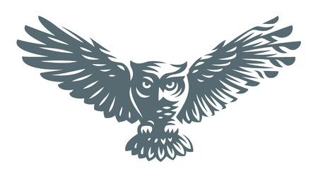 Owl pictogram ontwerp op witte achtergrond