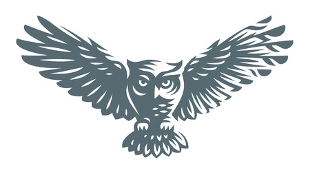 Owl icon design on white background