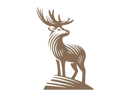 Deer design isolated on white background