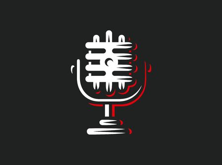 Vector microphone icons vector illustrations