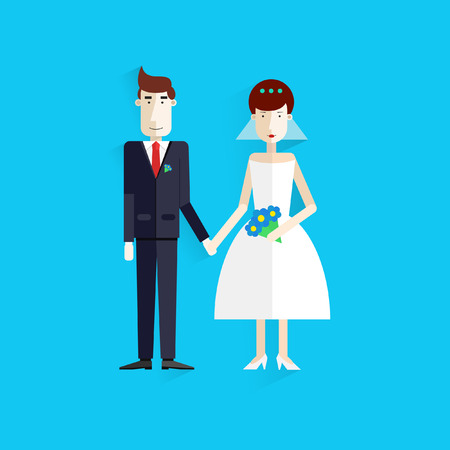 Wedding invitation card template vector.Flat.Modern. Vector