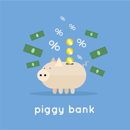 banco dinero: Piggy banco, dinero de ahorro, los depósitos en efectivo.