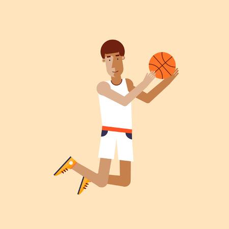 canestro basket: L'uomo a giocare a basket. Vettoriali