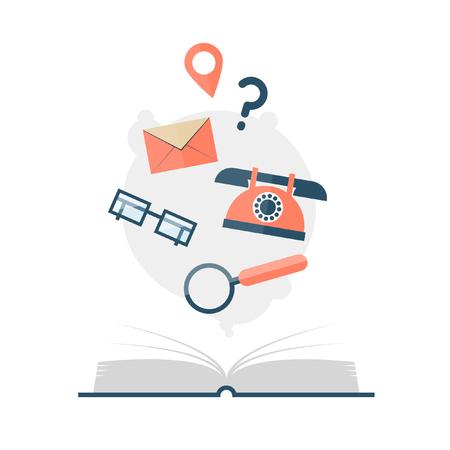 personal organizer: Directory flat design vector illustration.