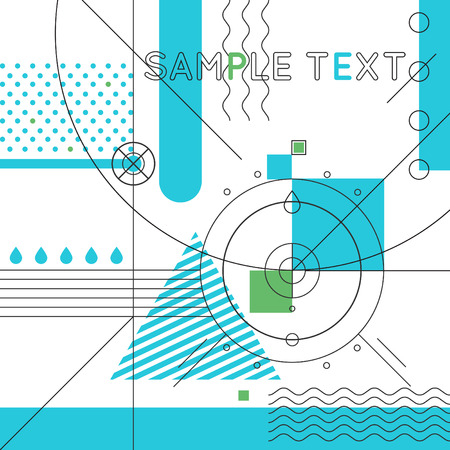 digital abstract: Abstract geometric background with thin lines minimalistic. Vector illustration. Illustration