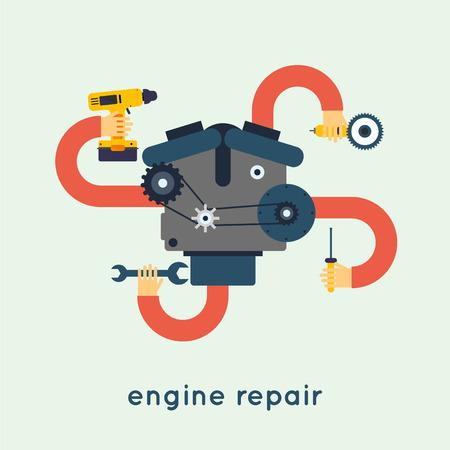herramientas de mecánica: Reparación de automóvil. Vectores