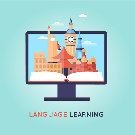On-line Training Courses. Foreign language education online, internet lessons, language school. English.