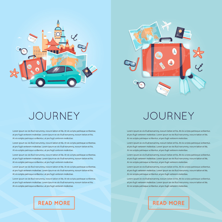 holiday vacation: Travel by car Russia, USA, Japan, France, England, Italy. World Travel. Planning summer vacations. Summer holiday. Tourism and vacation theme. Flat design vector