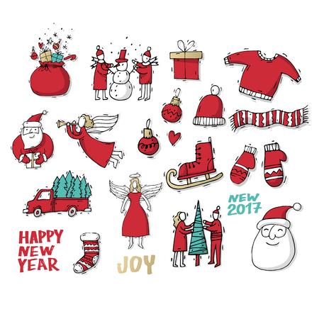 Vrolijk Kerstfeest En Een Gelukkig Nieuwjaar Hand Getekend Vintage