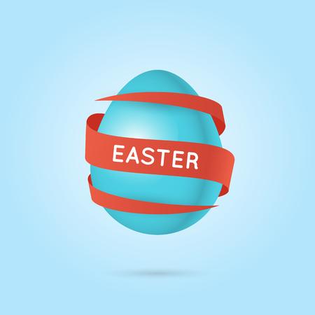 Easter eggs. Poster. Flat design vector illustration.