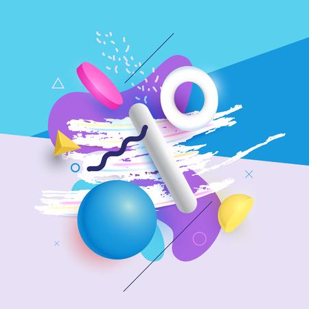 arte abstracto: vector del extracto figuras geométricas multicolores. Ilustración del vector.
