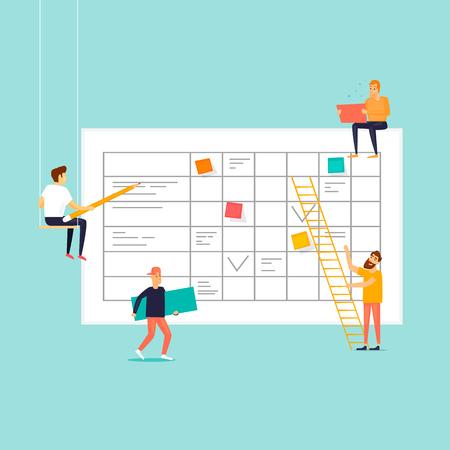 Business planning. Flat design vector illustration.