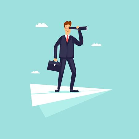 Business vision. Flat design vector illustration.