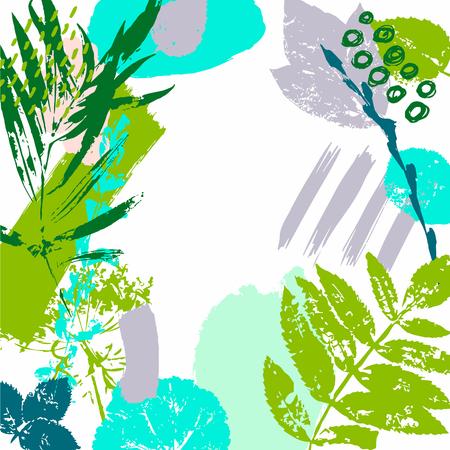 Wiosna, rośliny, przyroda. Ręcznie rysowane tekstury. Zaproszenia na przyjęcie. Plakat. Wektor. Ilustracje wektorowe