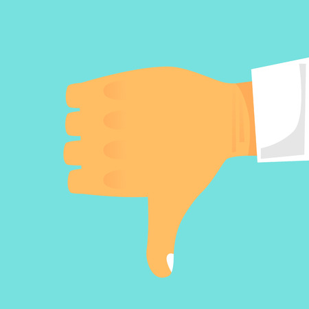 Hand gesture showing disagreement. Flat design vector illustration. Illustration