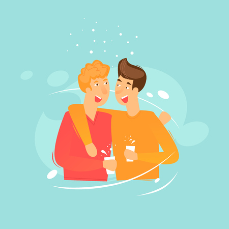 Friends. Flat design vector illustration.