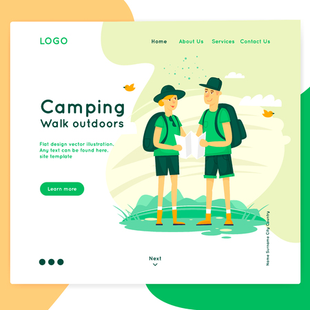 Site template. Web page design Illustration