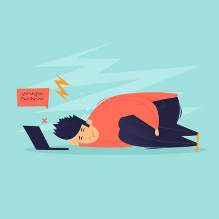 Internet bullying. Flat design vector illustration.