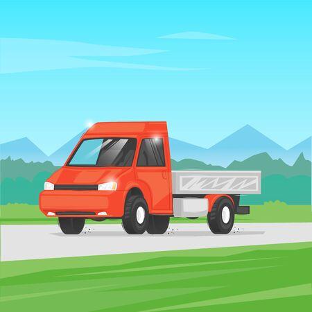 Cargo transportation. Flat design vector illustration. 向量圖像
