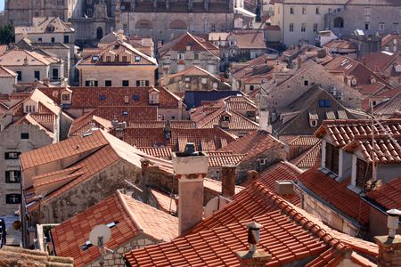 The Rooftops of Dubrovnik in Croatia Stock Photo