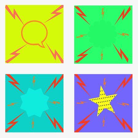 Thunderbolt graphic design illustration. 向量圖像
