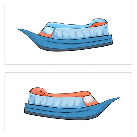 Icon clipart boat ship transportation logistic  illustration.