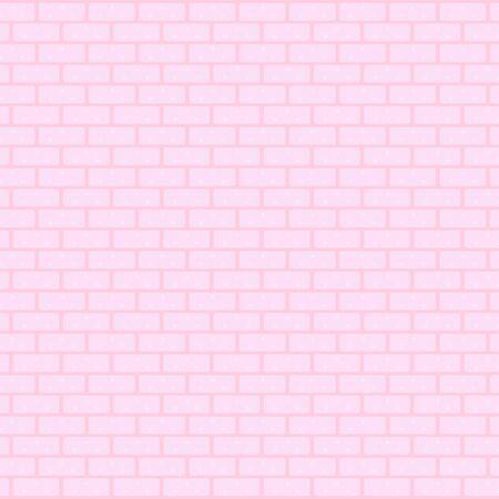Pink brick wall.  Vector illustration Çizim