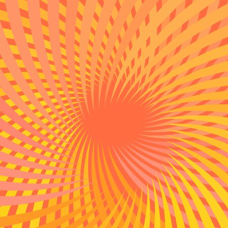 Abstract orange background with rays vector illustration Ilustrace