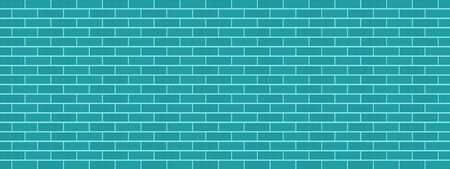 Classic blue green brick wall background texture pattern vector illustration graphic design modern style