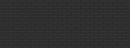 Background texture with black brick wall surface.  Architecture decoration modern style vector illustration graphic design