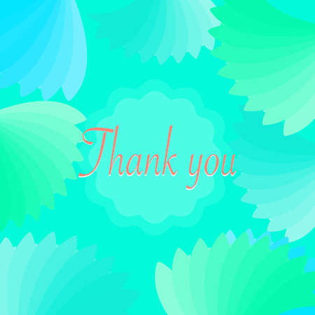 Thank you card with beautiful bright blue color flowers, sweeties, greeting, lovely, abstract background texture wallpaper pattern seamless art graphic design modern style
