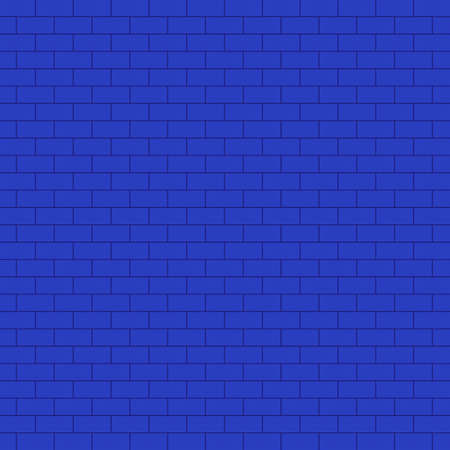 Blue brick wall background with line texture wallpaper, architecture home decoration pattern seamless vector illustration art graphic design modern style
