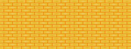 Yellow brick wall with lighting abstract background texture wallpaper decoration backdrop scenery panoramic vector illustration pattern seamless art graphic design 矢量图像