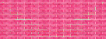 Pink brick wall with lighting abstract background texture wallpaper backdrop scenery panoramic vector illustration pattern seamless graphic design