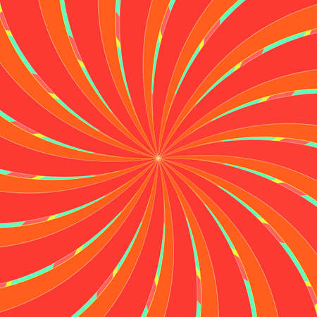 Vector : rays swirl starburst circle orange colorful with abstract background texture wallpaper decoration art graphic design illustration pattern seamless modern style 向量圖像
