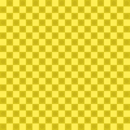 Vector : Classic yellow halftone chessboard with round geometric mosaic decoration, abstract background texture textile fashion fabric, plaids, backdrop wallpaper graphic design illustration pattern seamless vintage