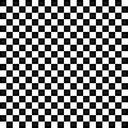 Vector : Classic black and white chessboard with arrow geometric mosaic decoration, abstract background texture textile, plaids, backdrop wallpaper illustration pattern seamless template frame retro style